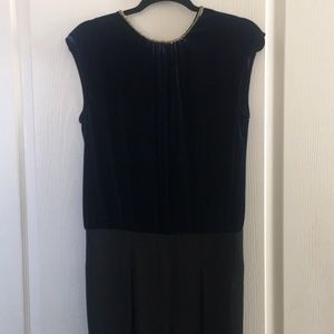 Zara sleeveless velvet top/jumpsuit
